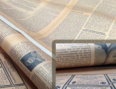 gazete kağıdına baskı